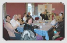 chatting over a cuppa at the friendship club
